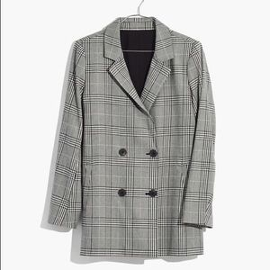 Madewell Caldwell Double Breasted Blazer in Plaid